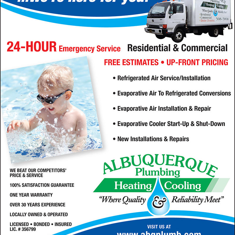 ABQ Plumbing Heating & Cooling Ad